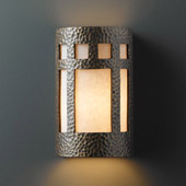 Craftsman/Mission Ambiance Large Prairie Window Wall Sconce - Justice Design CER-7355-HMBR