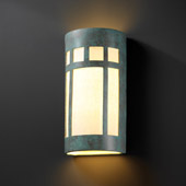Craftsman/Mission Ambiance Really Big Prairie Window Wall Sconce - Justice Design CER-7357-PATV