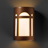 Craftsman/Mission Ambiance Small Arch Window Wall Sconce - Justice Design CER-7385-ANTC