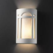 Craftsman/Mission Ambiance Small Arch Window Wall Sconce - Justice Design CER-7385-BIS