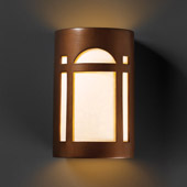 Craftsman/Mission Ambiance Large Arch Window Wall Sconce - Justice Design CER-7395-ANTC