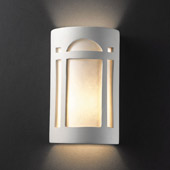 Craftsman/Mission Ambiance Large Arch Window Wall Sconce - Justice Design CER-7395-BIS