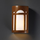 Craftsman/Mission Ambiance Large Arch Window Wall Sconce - Justice Design CER-7395-PATR
