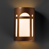 Craftsman/Mission Ambiance Large Arch Window Outdoor Wall Sconce - Justice Design CER-7395W-ANTC
