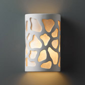 Casual Ambiance Small Cobblestones Wall Sconce - Justice Design CER-7445-BIS