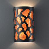 Casual Ambiance Small Cobblestones Wall Sconce - Justice Design CER-7445-CRB-MICA