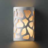 Casual Ambiance Small Cobblestones Outdoor Wall Sconce - Justice Design CER-7445W-BIS