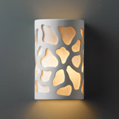 Casual Ambiance Large Cobblestones Wall Sconce - Justice Design CER-7455-BIS