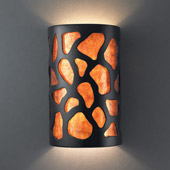 Casual Ambiance Large Cobblestones Wall Sconce - Justice Design CER-7455-CRB-MICA