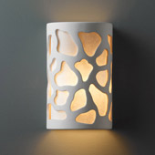 Casual Ambiance Large Cobblestones Outdoor Wall Sconce - Justice Design CER-7455W-BIS