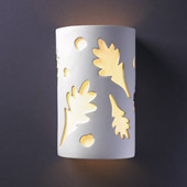 Casual Ambiance Small Oak Leaves Wall Sconce - Justice Design Group CER-7465