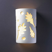 Casual Ambiance Large Oak Leaves Wall Sconce - Justice Design Group CER-7475
