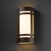 Craftsman/Mission Ambiance Really Big Craftsman Window Wall Sconce - Justice Design CER-7497-HMIR