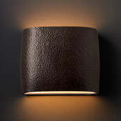 Ambiance Wide ADA Oval Wall Sconce - Justice Design CER-8855-HMIR