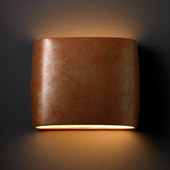 Ambiance Wide ADA Oval Wall Sconce - Justice Design CER-8855-PATR