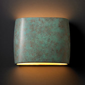 Ambiance Wide ADA Oval Wall Sconce - Justice Design CER-8855-PATV