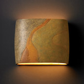 Ambiance Wide ADA Oval Wall Sconce - Justice Design CER-8855-SLHY