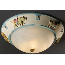 Justice Design KID-6197 Kid's Carousel 17 In. Flush Mount Ceiling Fixture