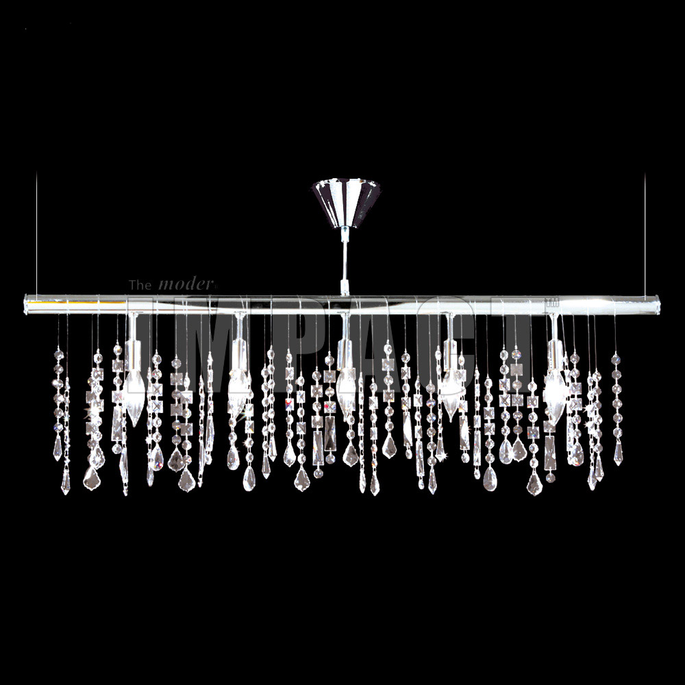 James R. Moder 40740S22 Crystal Contemporary IMPACT Linear Chandelier