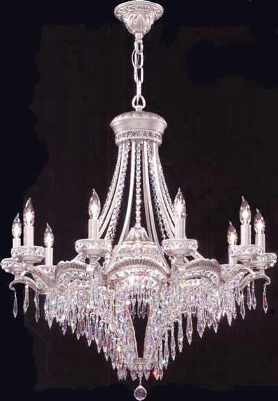 James R Moder 94350pw22 Crystal Dynasty Ten Light Chandelier