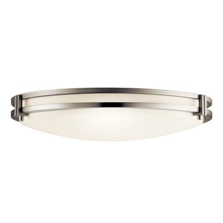 Kichler 10827ni flush mount ceiling fixture aloadofball Image collections