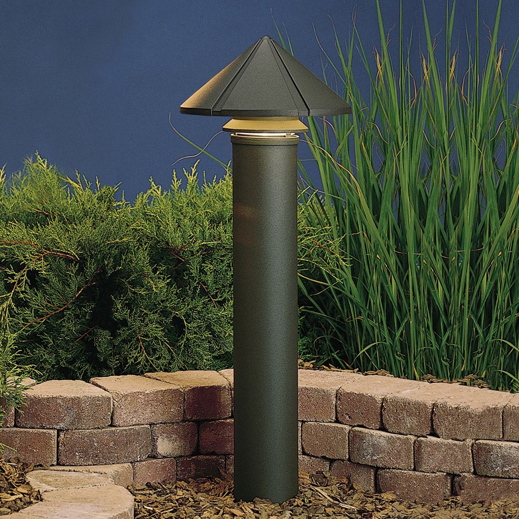 Kichler 15211azt six groove 120v large one tier path for 120v landscape lighting