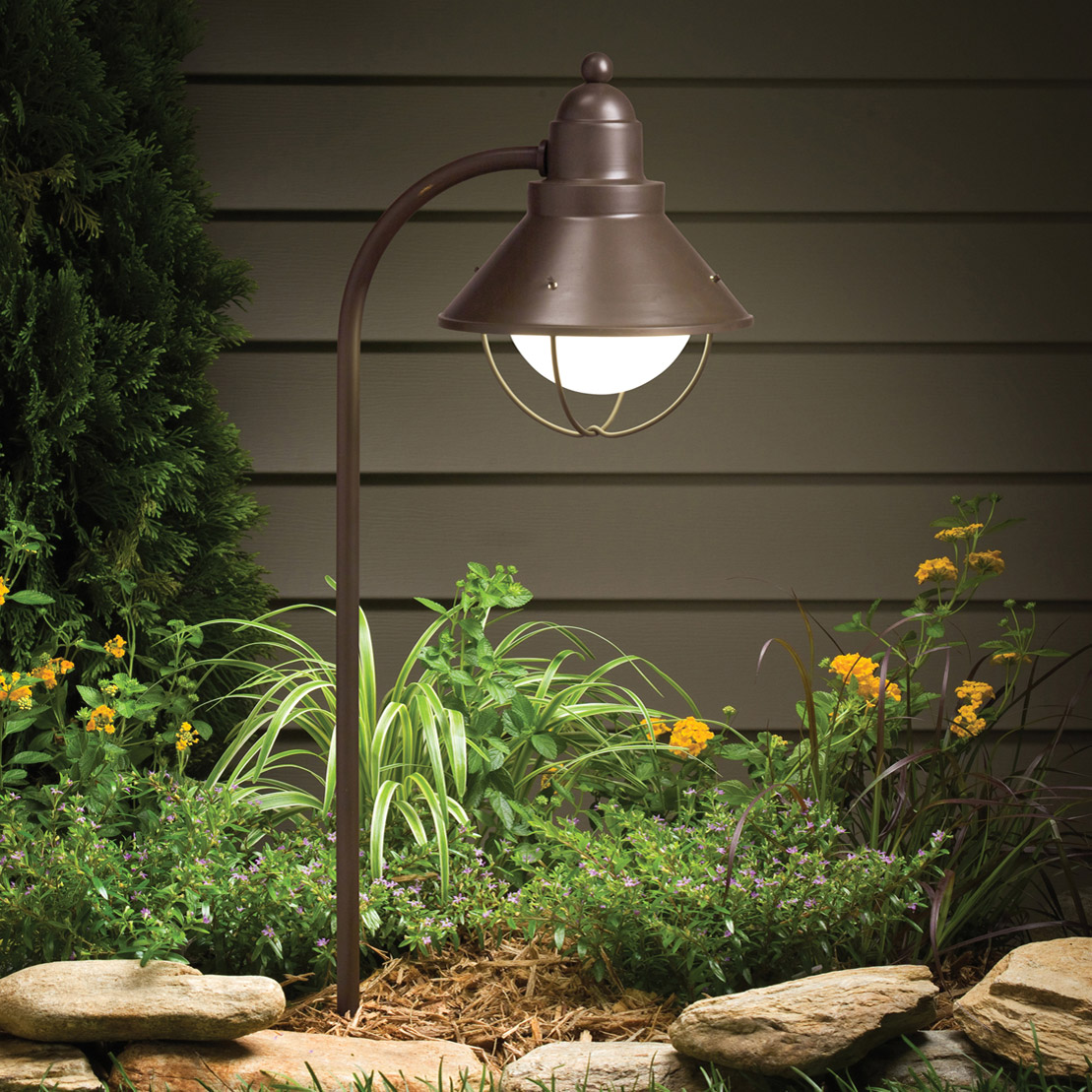 Kichler 15239oz seaside 120v landscape path spread light - Exterior landscape lighting fixtures ...