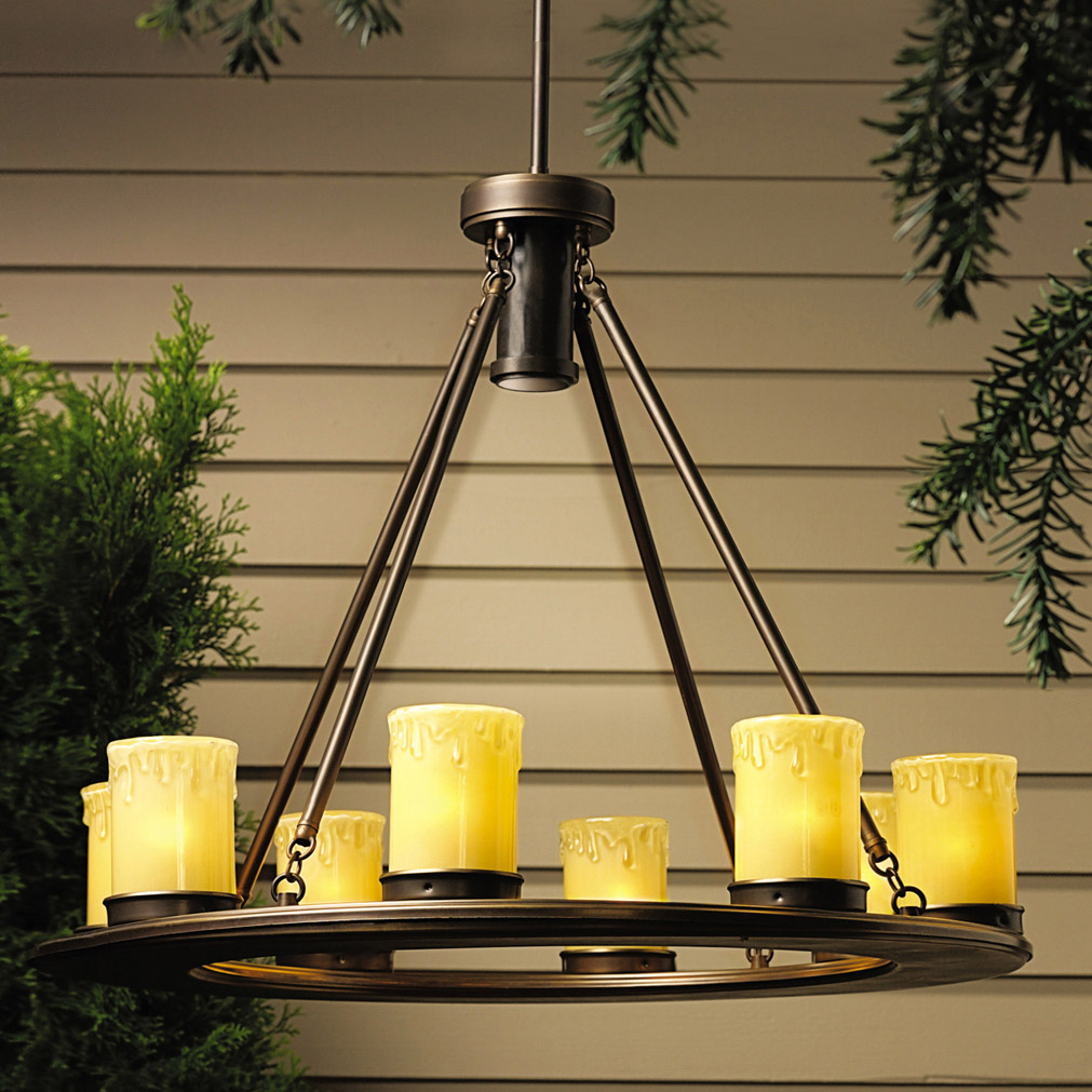 Kichler 15402OZ Oak Trail 12V Outdoor Chandelier