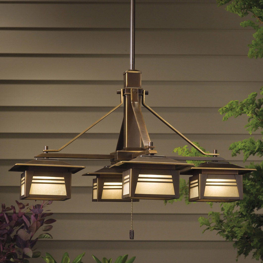 Kichler 15409oz zen garden 12v outdoor chandelier for Outdoor lighting