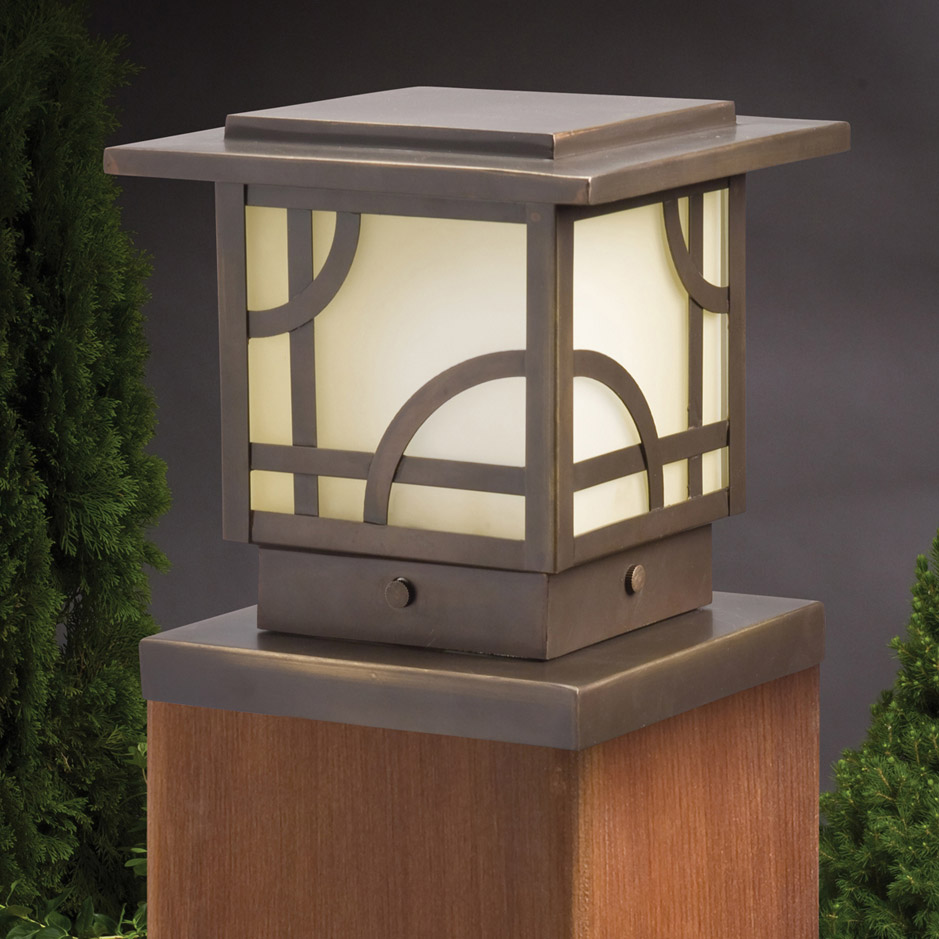 Kichler 15474oz larkin estate 12v post light aloadofball Gallery