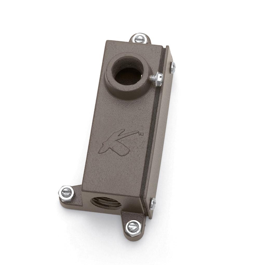 Kichler 15609azt landscape junction box mounting bracket for Exterior light no junction box