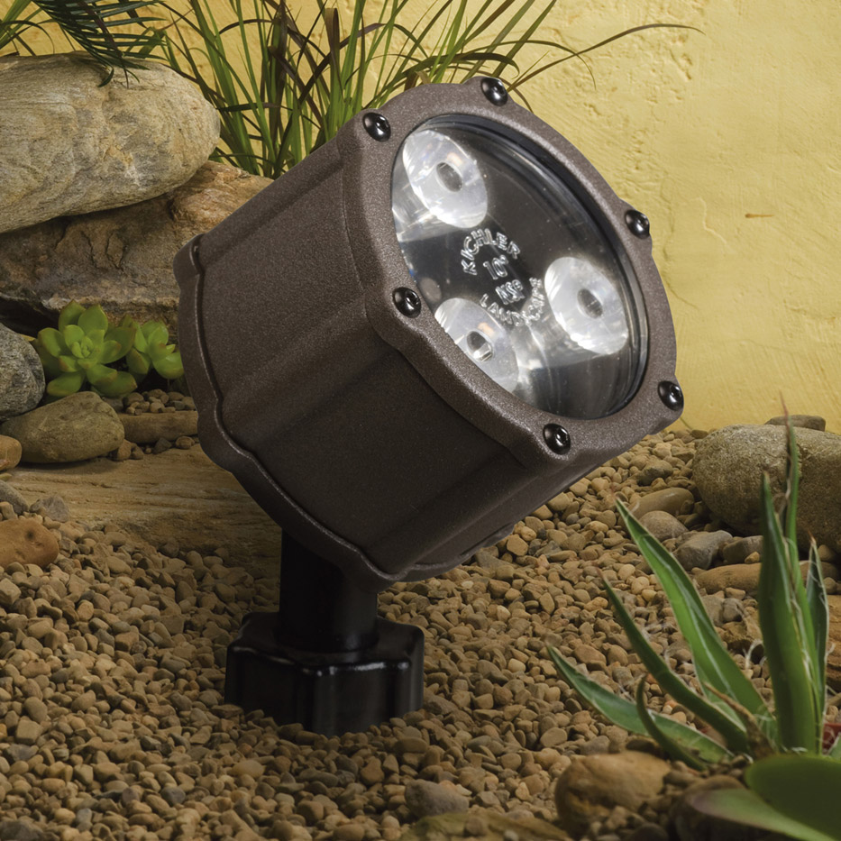 Kichler 15733AZT Landscape LED 12V 4 5Watt 60 Wide Flood Accent Light