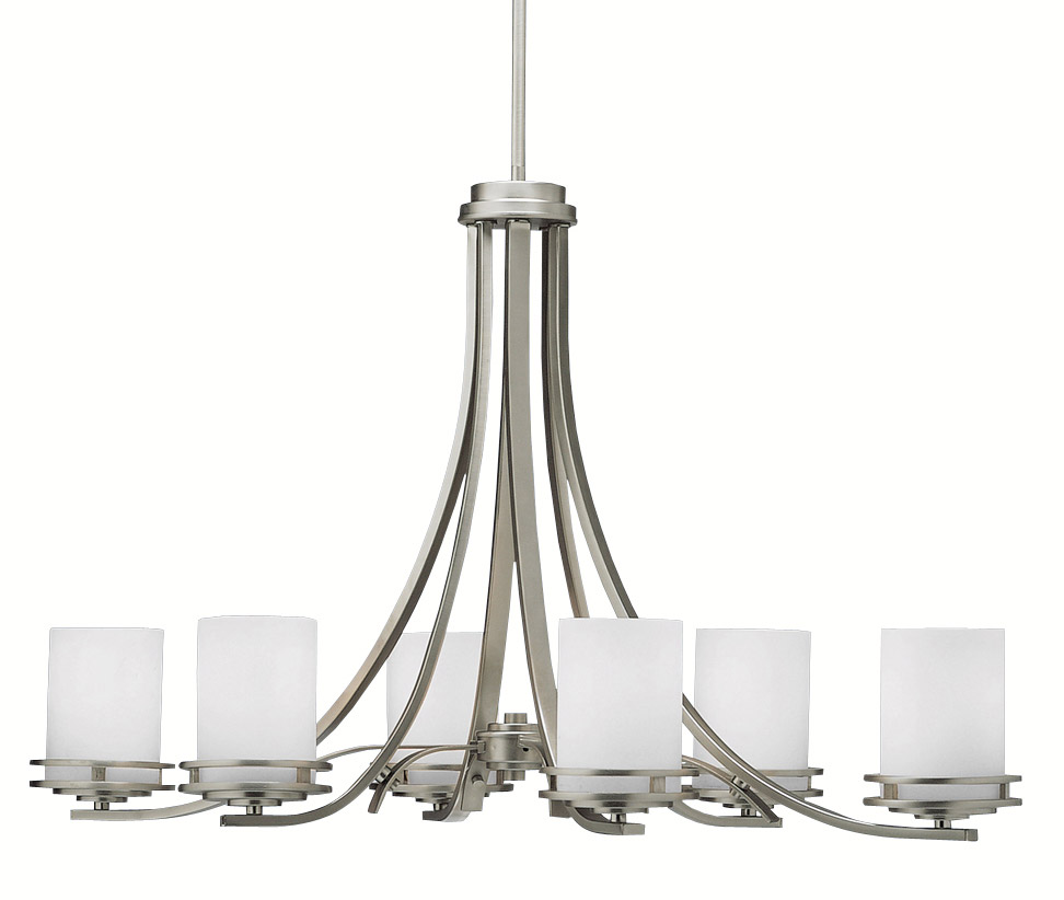 Oval Chandeliers: Kichler 1673NI Hendrik Six Light Oval Chandelier,Lighting