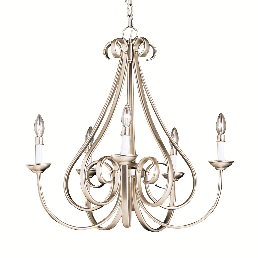 design kichler brushed in roswell product chandeliers contemporary chandelier home nickel lighting
