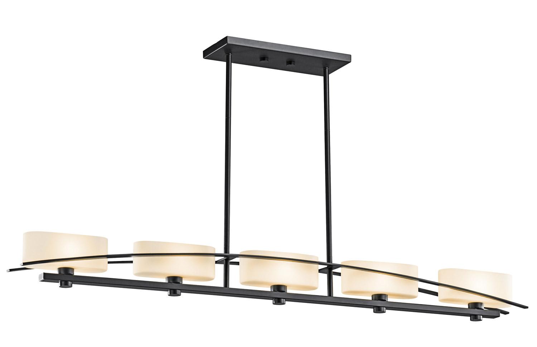 island lighting. kichler 42018bk suspension island light lighting t