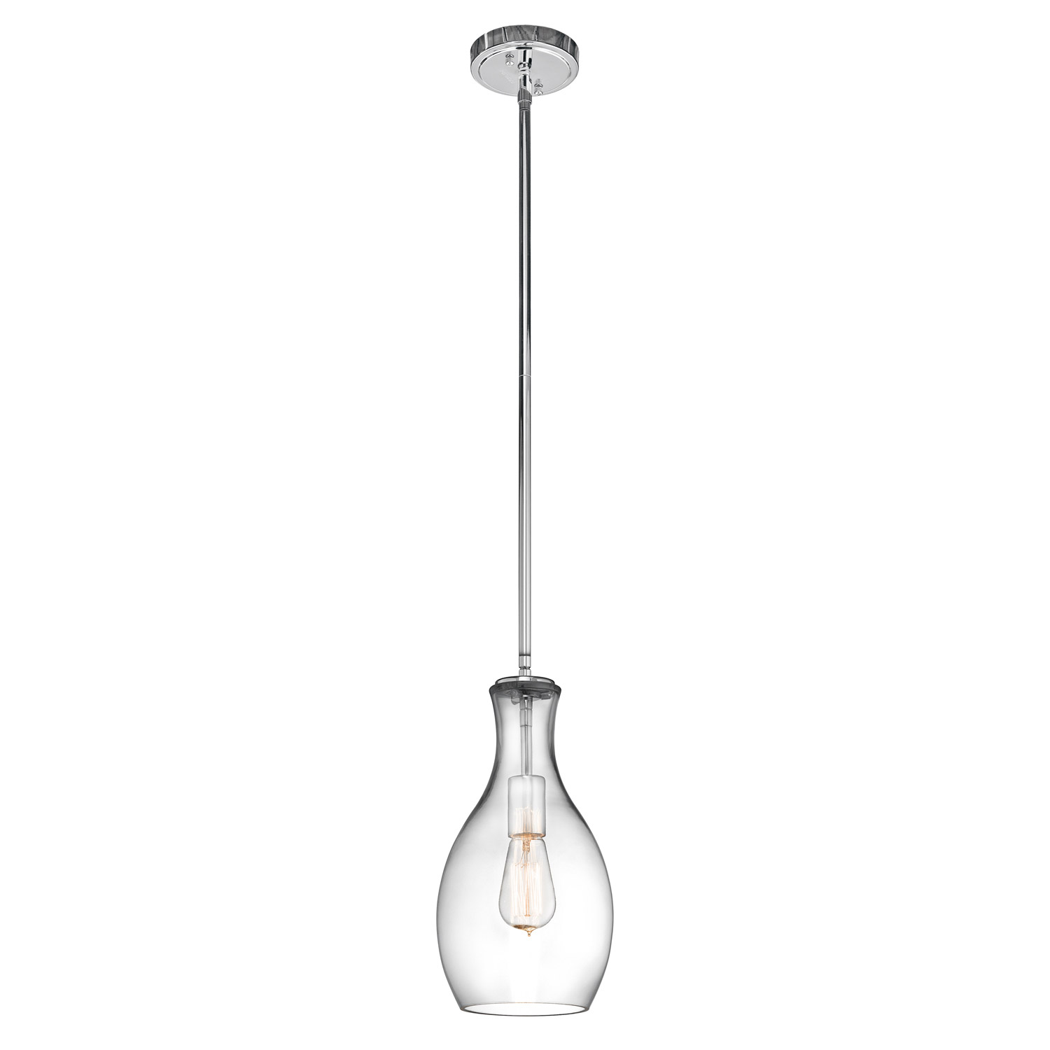 Kichler 42456chclr everly mini pendant aloadofball Image collections