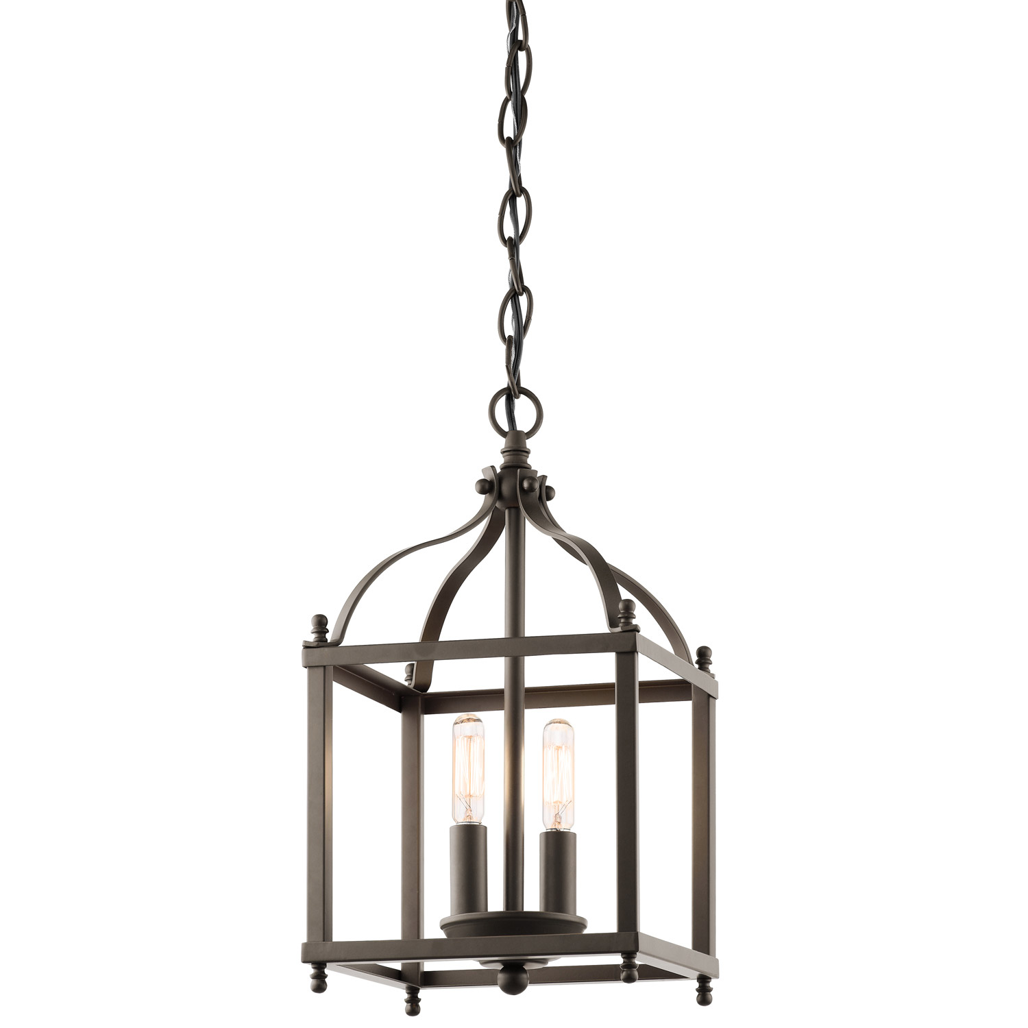 nickel polished in light lantern leon pendant
