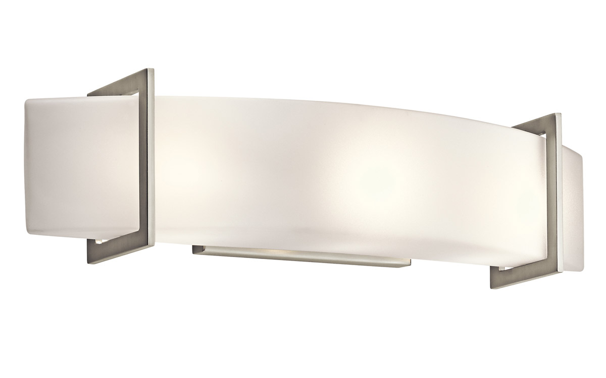 kichler 45220ni crescent view vanity light amazing contemporary bathroom vanity lighting