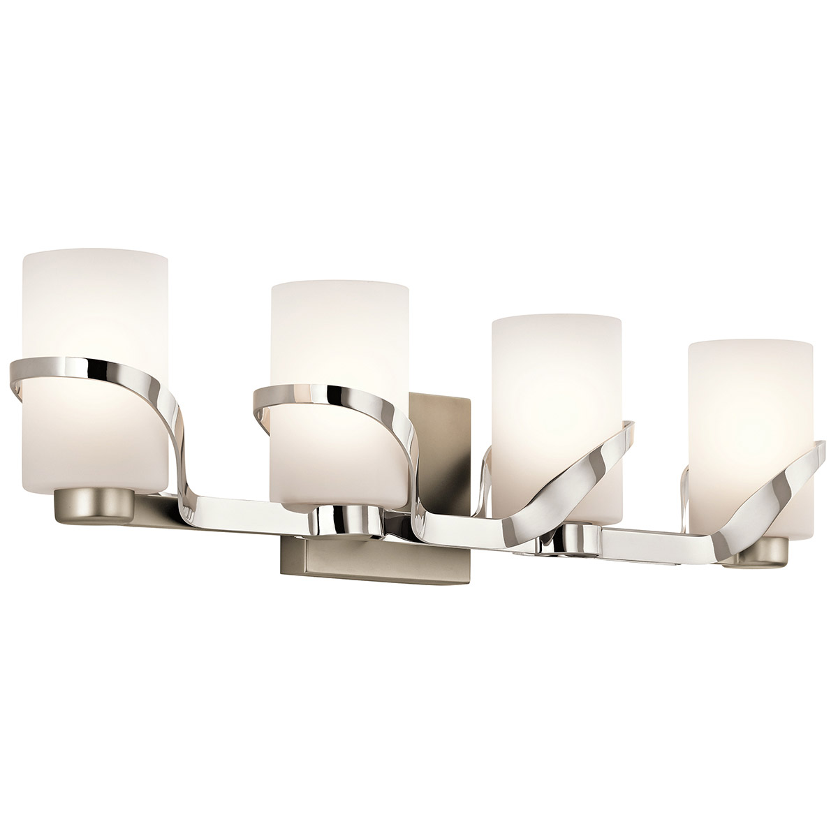 Kichler 45630pn stelata bathroom vanity light aloadofball Choice Image