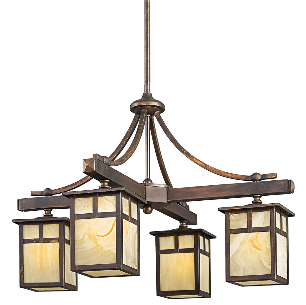 Kichler 49091CV Alameda Four Light Outdoor Chandelier