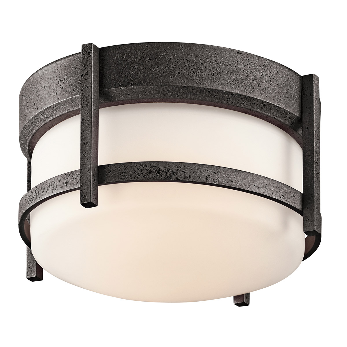 Kichler 49125AVI Camden Outdoor Flush Mount Ceiling Fixture