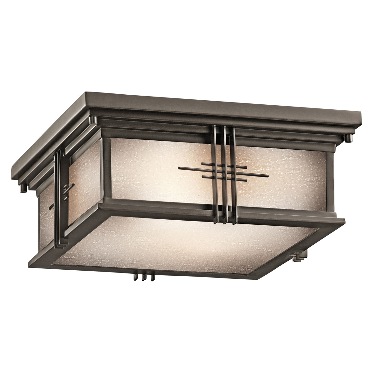 Kichler 49164oz portman square outdoor flush mount ceiling fixture workwithnaturefo