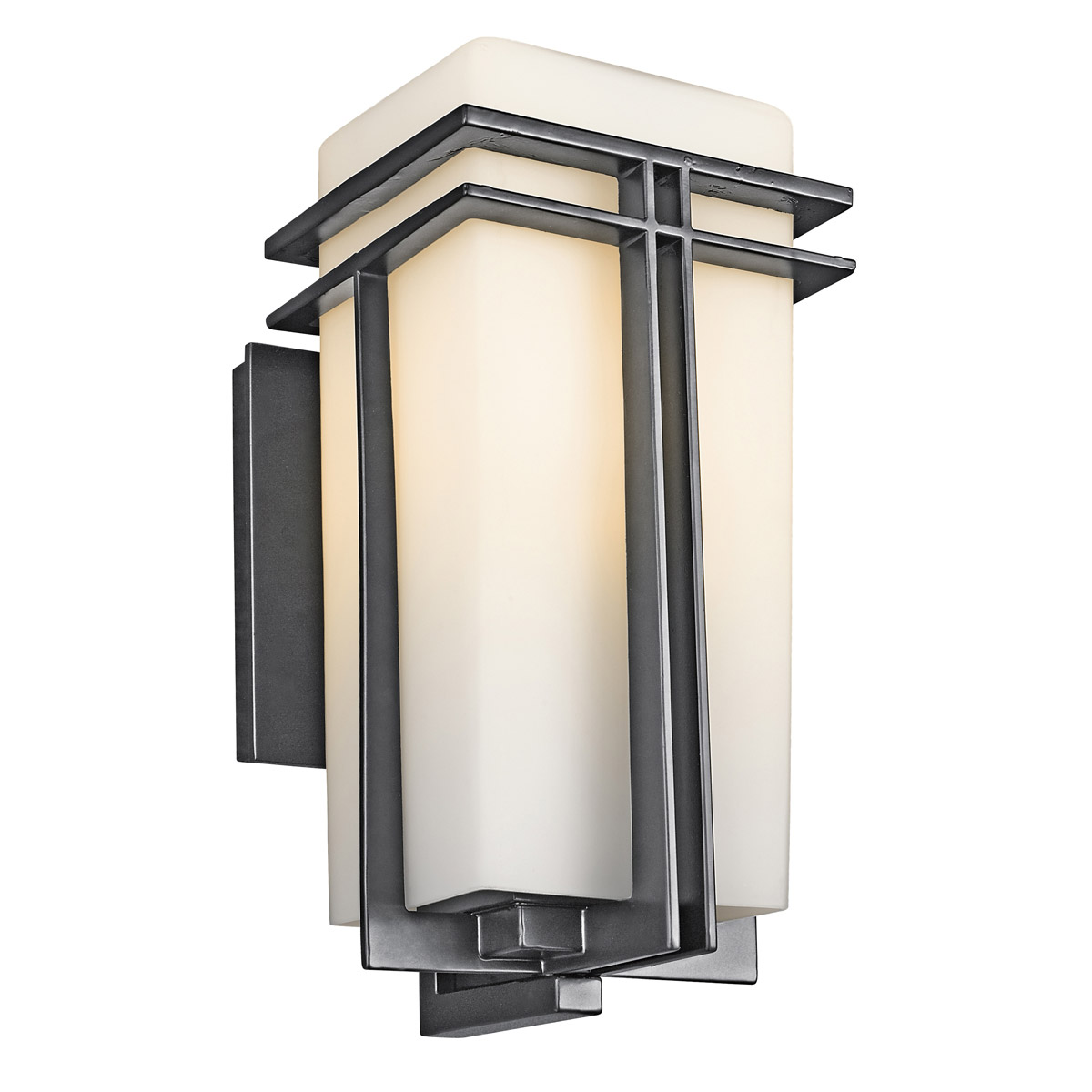 Kichler 49201bk tremillo outdoor wall fixture for Outdoor home lighting fixtures