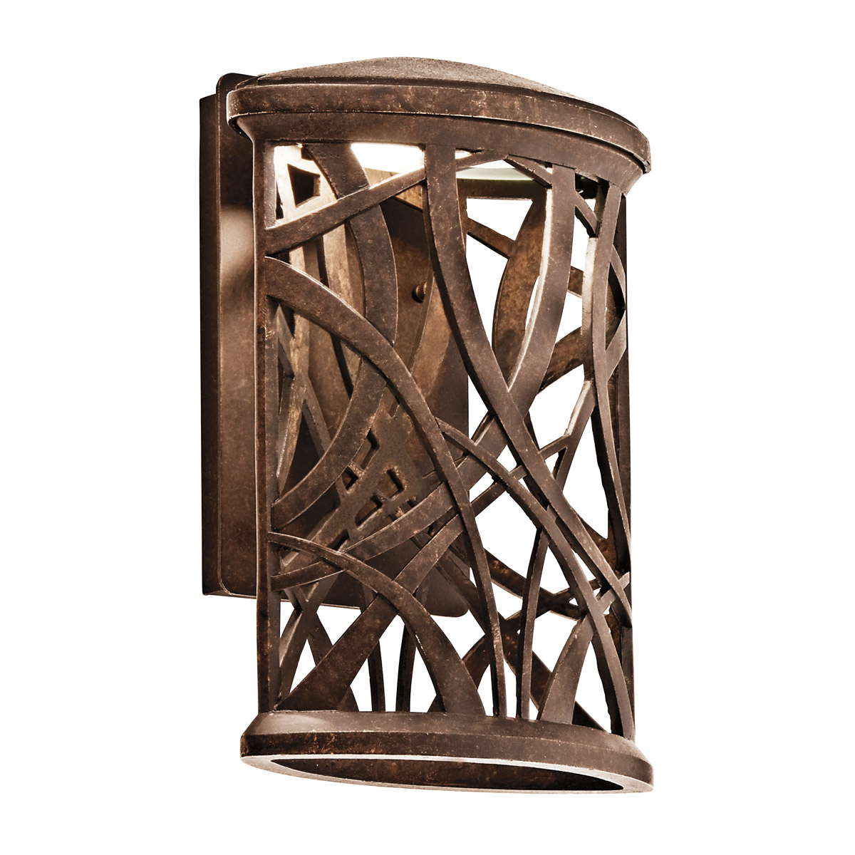 Kichler 49249AGZLED Maya Palm Energy Efficient Dark Sky Outdoor Wall Sconce