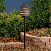 Transitional Six Groove 12V Three Tier Landscape Path & Spread Light - Kichler 15005AZT