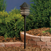 Transitional Six Groove 12V Three Tier Landscape Path & Spread Light - Kichler 15005BKT