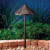 Transitional Six Groove 12V Large Center Mount Path & Spread Light - Kichler 15328AZT