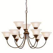 Transitional Telford Nine Light Chandelier - Kichler 2077OZ
