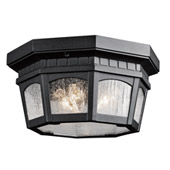 Traditional Courtyard Outdoor Ceiling Light - Kichler 9538BKT