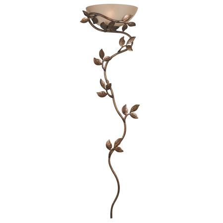 Kenroy Home 20624GLBR Flower Vine Wall Sconce
